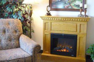 Fireplace at rosholt countryside inn